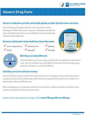 facts about generic medications